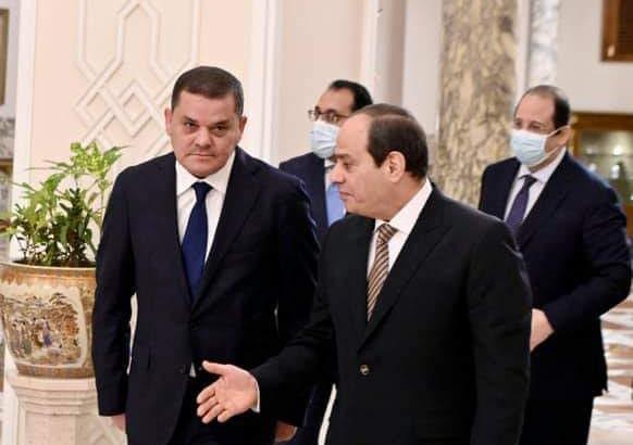 إستقبل الرئيس عبد الفتاح السيسي اليوم السيد عبد الحميد الدبيبة رئيس الحكومة الليبية الجديدة egypt debiba sisi min