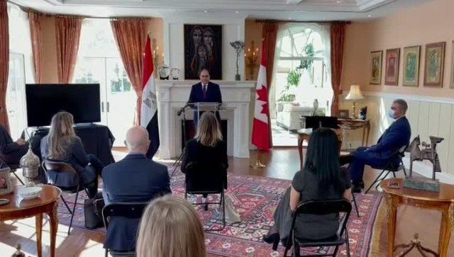 سفارة مصر في كندا تنجح في استرداد قطعة أثرية فرعونية مهربة إلى كندا *** في إطار الجهود التي تبذلها بعثات 40532
