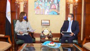 وزيرة الهجرة تبحث مع وزير السياحة والآثار آليات التعاون لتنظيم برامج سياحية للمصريين بالخارج  الاتفاق على