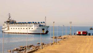أعلنت المنطقة الاقتصادية لقناة السويس عن استقبال ميناء الطور التابع للمنطقة، السفينة (TRUST-1) وعلى متنها شحنة