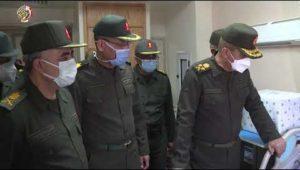 زيارة الفريق أول محمد زكى القائد العام للقوات المسلحة للمرضى والمصابين بالمجمع الطبى للقوات المسلحة