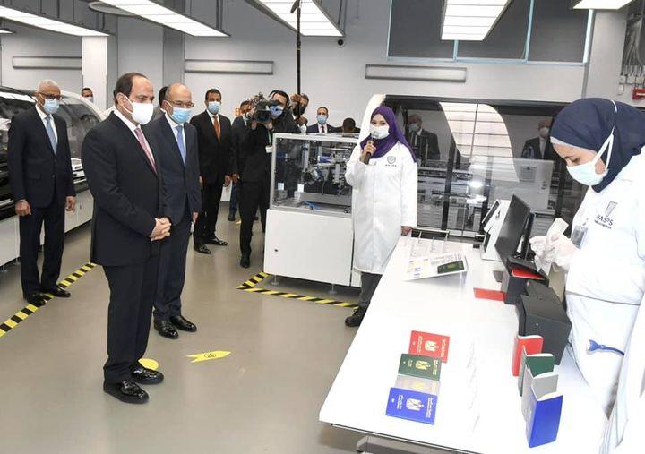 افتتاح السيد الرئيس عبد الفتاح السيسي صباح اليوم مجمع الإصدارات المؤمنة والذكية 49187