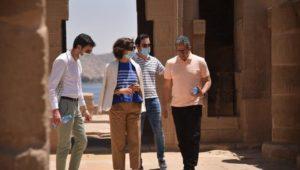 بيان صادر عن وزارة السياحة والآثار  وزير السياحة والآثار  ومدير عام منظمة اليونسكو يقومان بجولة بمحافظة