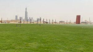 أعمال تنفيذ النهر الأخضر في العاصمة الإدارية الجديدة، أكبر حديقة مركزية في العالم عند إكتمالها بطول 35