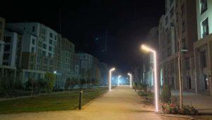 تجارب الإضاءة في منطقة البلازا والممشي الترفيهي في الحي السكني الثالث Capital Residence R3 بالعاصمة الإدارية