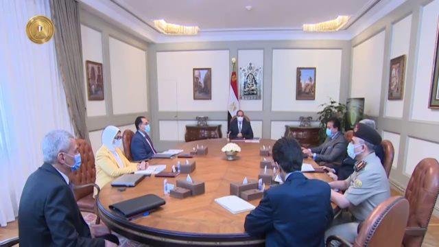 الرئيس عبد الفتاح السيسي يتابع الوضع الراهن لانتشار فيروس كورونا، والإجراءات الحالية المتخذة من قبل JOEFM7bllYoZkn9Z