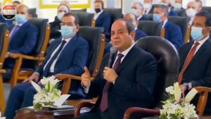 """Egyptian President Abdel-Fattah El-Sisi called Ethiopia :  """"I say to our Ethiopian brothers, [we] should not get to a point where you infringe upon a drop of Egypt's water because all options are"""