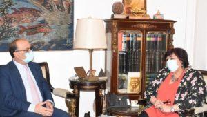 بيان صادر عن وزارة الثقافة:  وزيرة الثقافة تستقبل سفير تونس بالقاهرة  عبد الدايم : القوى الناعمة وسيلة