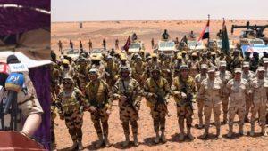الفريق محمد / فريد رئيس أركان حرب القوات المسلحة يشهد فعاليات ختام التدريب المشترك المصرى السودانى ( حماة