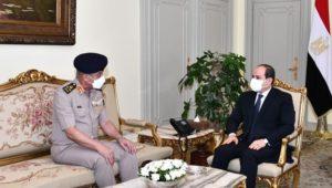 استقبل السيد الرئيس عبد الفتاح السيسي صباح اليوم الفريق أول محمد زكي القائد العام للقوات المسلحة وزير الدفاع