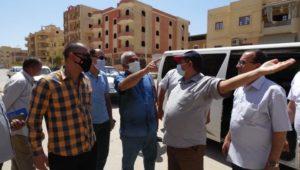 رئيس جهاز بنى سويف الجديدة يتفقد الأحياء السكنية بالمدينة