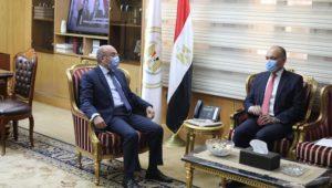 بيان صادر عن وزارة العدل  وزير العدل يستقبل سفير المملكة الأردنية الهاشمية بالقاهرة  استقبل اليوم