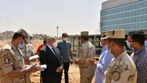 رئيس الهيئة الهندسية للقوات المسلحة ورئيس جامعة القاهرة يتفقدان المعهد القومى للأورام الجديد  500 500  بمدينة