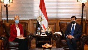 بيان صادر عن وزارة الشباب والرياضة  وزير الشباب والرياضة يلتقي ممثل صندوق الأمم المتحدة للسكان في مصر