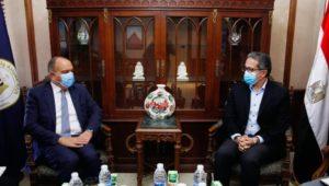 - وزير السياحة والآثار يلتقي بسفير المملكة الأردنية الهاشمية بالقاهرة لبحث تعزيز سبل التعاون  - مناقشة