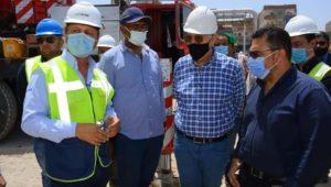 قام المهندس سيد فاروق رئيس مجلس إدارة شركة المقاولون العرب بزيارة تفقدية لمشروع هضم الحمأة الناتجة من محطة