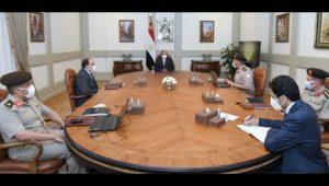 السيد الرئيس يتابع الموقف الإنشائي والهندسي لعدد من مشروعات الهيئة الهندسية