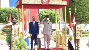 الفريق أول / محمد زكى القائد العام للقوات المسلحة وزير الدفاع والإنتاج الحربى يلتقى وزير دفاع جمهورية صربيا