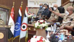 الفريق أول / محمد زكى القائد العام للقوات المسلحة وزير الدفاع والإنتاج الحربى يشهد المرحلة الرئيسية لمشروع
