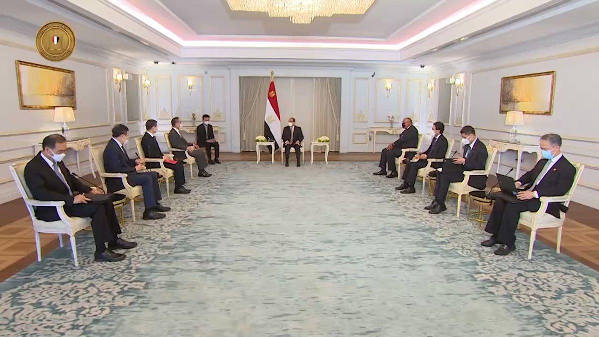 استقبل الرئيس عبد الفتاح السيسي اليوم السيد وانج يي، وزير خارجية الصين، اللقاء شهد تعزيز أوجه التعاون YLApkjUuODMYIbDP