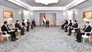 الرئيس عبد الفتاح السيسي يستقبل وزير خارجية جمهورية الصين الشعبية