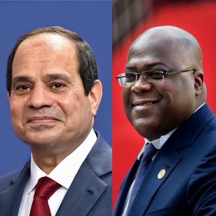 تلقي السيد الرئيس عبد الفتاح السيسي مساء اليوم اتصالاً هاتفياً من الرئيس فيليكس تشيسيكيدي، رئيس جمهورية 46957