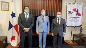 السفير المصري في بنما يلتقي المدير العام لمنطقة كولون الحرة  ــ  التقى السفير ياسر الشواف، سفير
