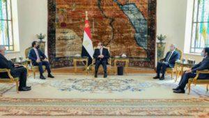 السيد الرئيس يؤكد خلال استقباله لرئيس مجلس النواب العراقي على استعداد مصر الكامل لدعم العراق في كافة