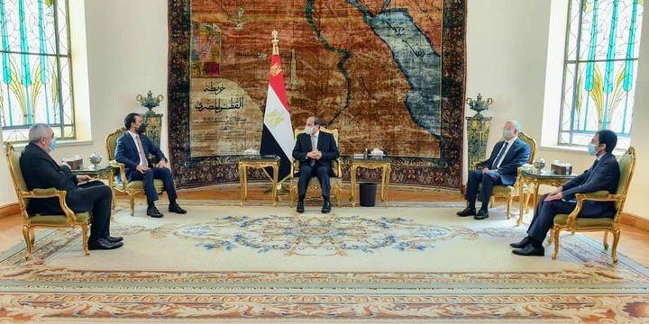 السيد الرئيس يؤكد خلال استقباله لرئيس مجلس النواب العراقي على استعداد مصر الكامل لدعم العراق في كافة 53877