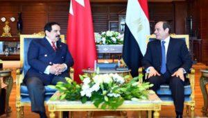 السيد الرئيس عبد الفتاح السيسي والملك حمد بن عيسى آل خليفة  يستعرضان آخر تطورات قضية سد النهضة في ضوء البيان