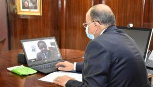 بيان صادر عن وزارة التنمية المحلية:  عبر الفيديو كونفرانس وبحضور رئيس غرفة صناعة الأخشاب  :  وزير التنمية
