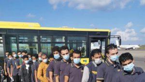 بيان صحفي  قامت السفارة المصرية فى طرابلس بترتيب عودة ٥٣ شاباً مصرياً كان قد تم القبض عليهم من جانب