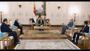 السيد الرئيس يستقبل رئيس مجلس النواب والقائد العام للقوات المسلحة الليبية
