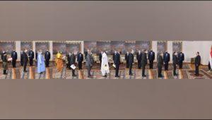 الرئيس عبد الفتاح السيسي يتسلم أوراق اعتماد أربعة وعشرين سفيرًا جديدًا