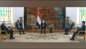 الرئيس عبد الفتاح السيسي يستقبل رئيس مجلس النواب العراقي