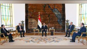 الرئيس عبد الفتاح السيسي يستقبل رئيس حكومة الوحدة الوطنية الليبية