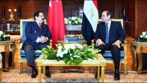 الرئيس عبد الفتاح السيسي يستقبل ملك البحرين
